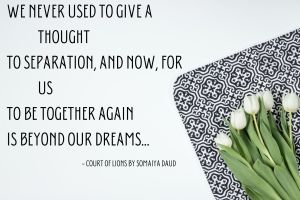We never used to give a thought To separation, and now, for us To be together again Is beyond our dreams...