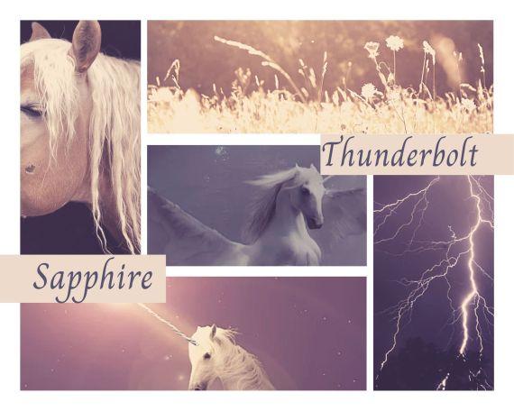 Thunderbolt & Sapphire Moodboard